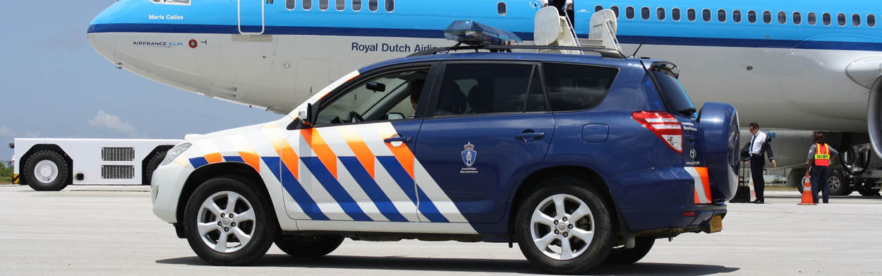 Car and KLM airplane
