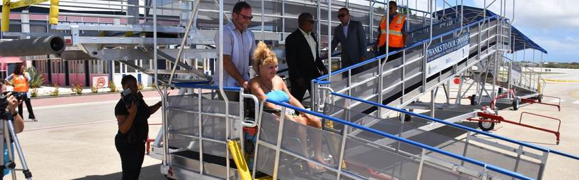 Cooperation OLB-ZVK-BIA makes Bonaire more wheelchair friendly
