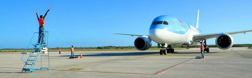 10 percent more flights to and from the Caribbean Netherlands